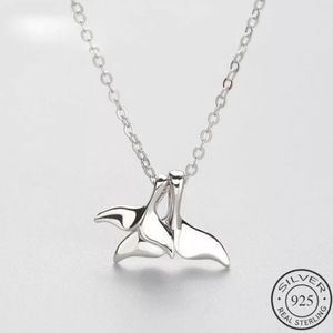 925 Sterling Silver Mermaid Tail Choker Necklace